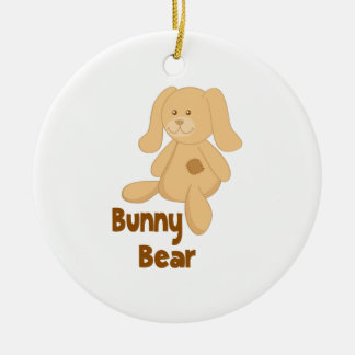 Bunny Bear Christmas Ornament