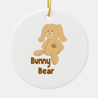Bunny Bear Round Ceramic Decoration