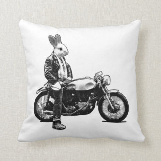 Bunny biker cushion