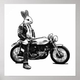 Bunny biker poster