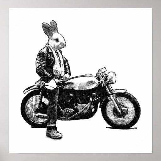 Bunny biker posters