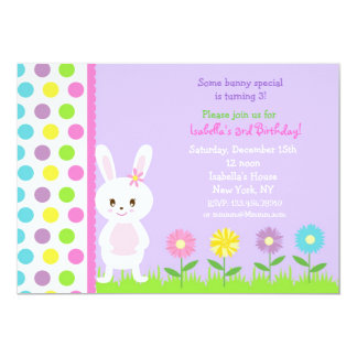 Bunny  Birthday Party Invitations