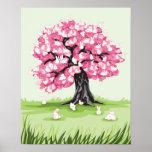 Bunny Blossom Tree poster