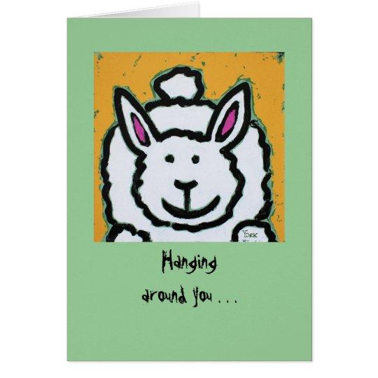 bunny blushing cards