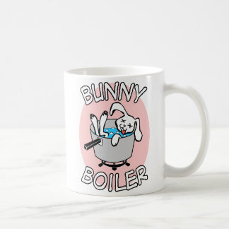Bunny Boiler white coffee mug