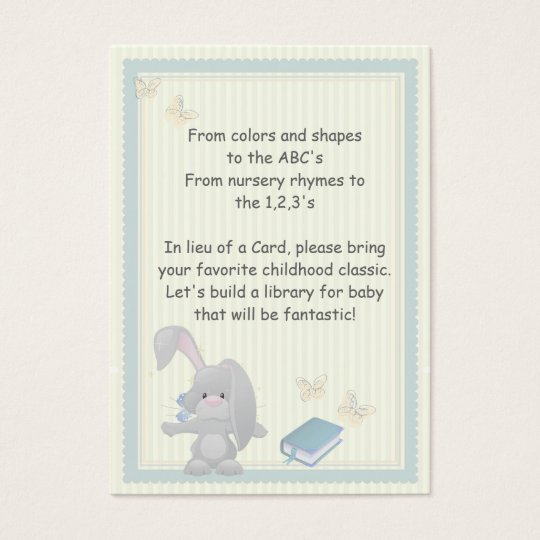 Bunny Book Request Enclosure Cards