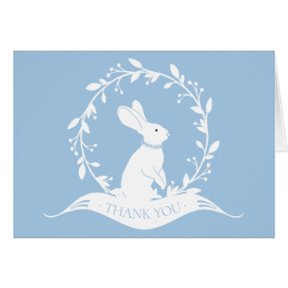 Bunny Boys Baby Shower Thank You Note Card
