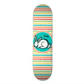 Bunny Bright Rainbow Stripes Skateboard