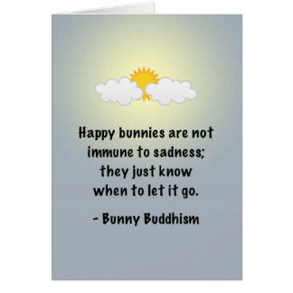 "Bunny Buddhism ""Let It Go"" Card"