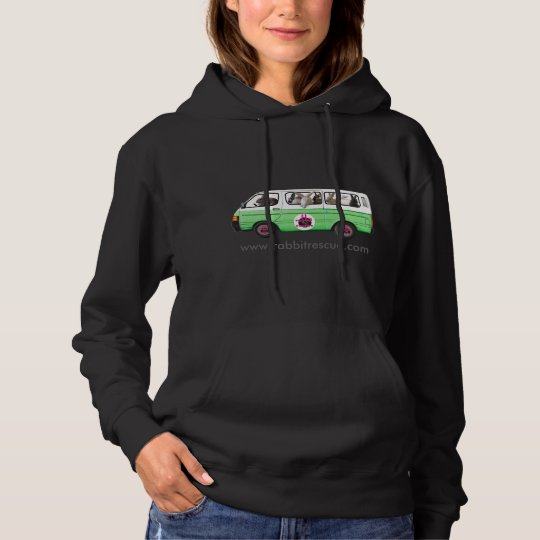 Bunny Bus Hoodie By Rabbit Rescue - Green