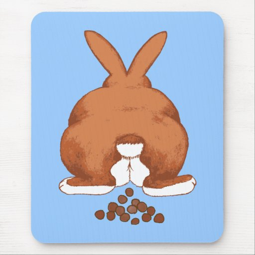 Bunny Butt Mouspad Mouse Pad