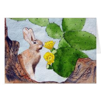 Bunny Cactus Card