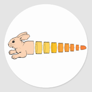 Bunny Carrot Classic Round Sticker