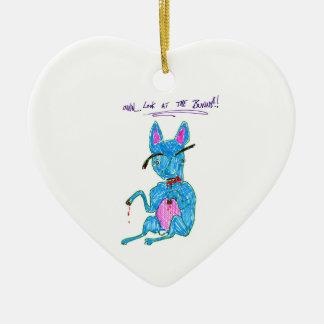 Bunny Ceramic Heart Decoration