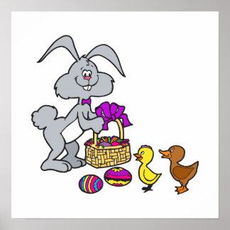 Bunny Chicks & Eggs Poster
