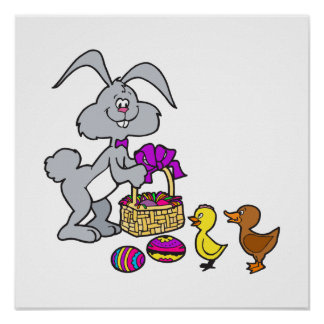 Bunny Chicks Eggs Print