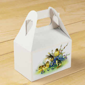 Bunny & Chicks Vintage Style Easter Favor Boxes Wedding Favour Box