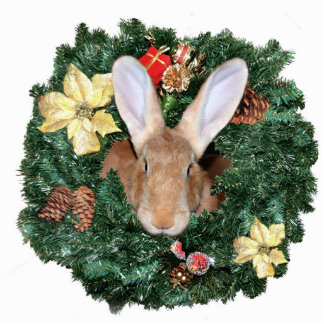 Bunny Christmas ornament Photo Sculpture Decoration