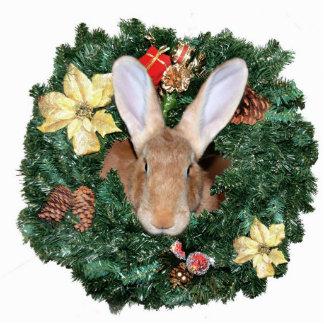 Bunny Christmas ornament Photo Sculptures