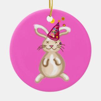 Bunny Christmas party Christmas Ornament