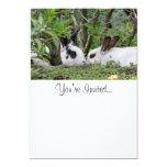 Bunny Couple 13 Cm X 18 Cm Invitation Card