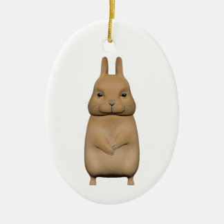 Bunny cute and lovely ceramic oval decoration