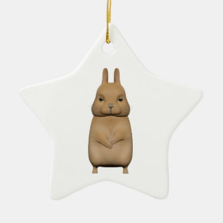 Bunny cute and lovely ceramic star decoration