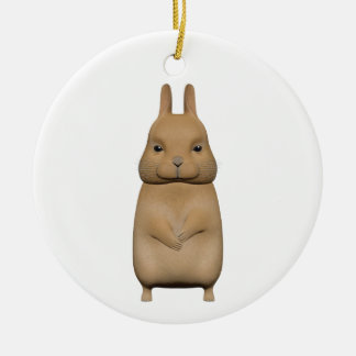Bunny cute and lovely round ceramic decoration