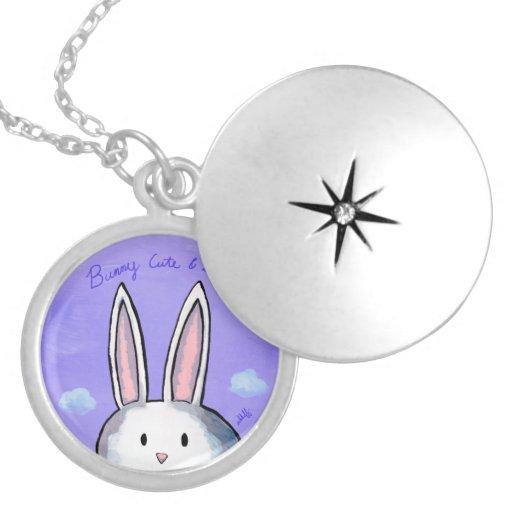 Bunny Cute & Shy Locket - Purple
