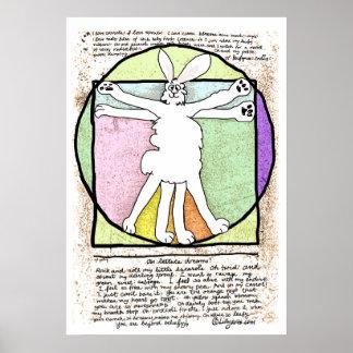Bunny DaVinci Poster and Print