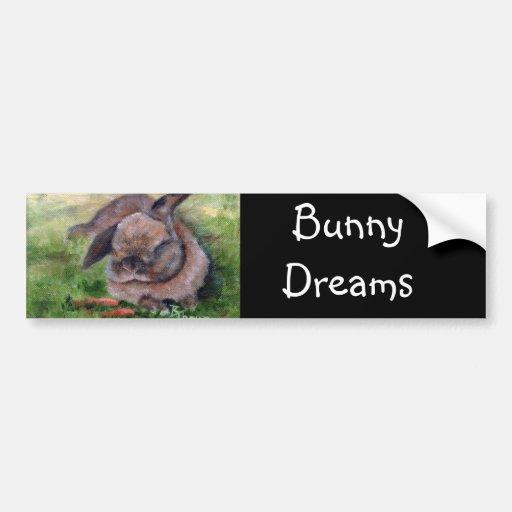 Bunny Dreams Bumper Sticker