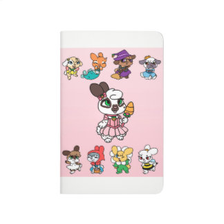 Bunny Dress Up Journal Pink Front