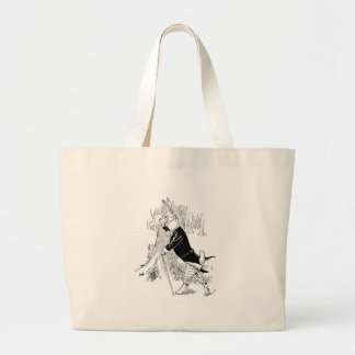 Bunny Dressed Up for a Date Jumbo Tote Bag