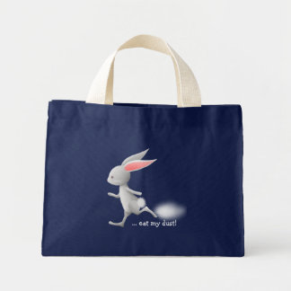 Bunny eat my dust - tote bag