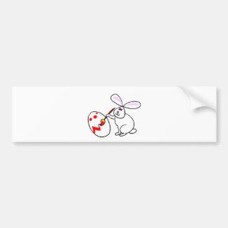 Bunny Egg Painter Bumper Sticker