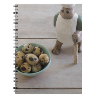 Bunny & eggs in a bowl notebooks