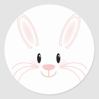 Bunny Face Classic Round Sticker