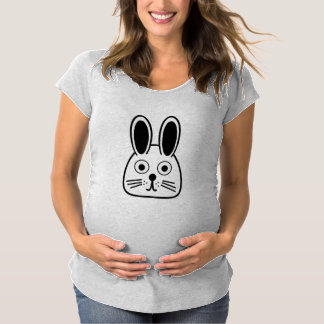 bunny face maternity T-Shirt