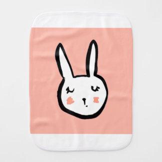 Bunny Face Pink Burp Cloth