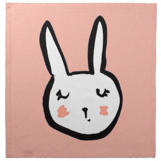 Bunny Face Pink Napkin