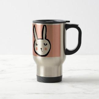 Bunny Face Pink Travel Mug