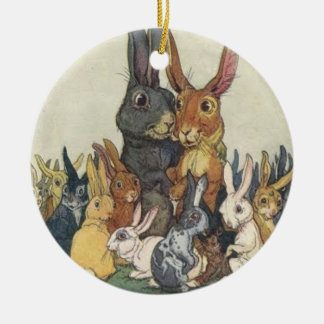 Bunny Family Christmas Ornament