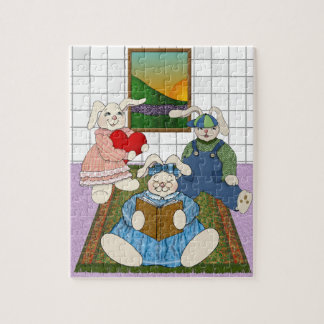 Bunny Family in the Children's Playroom Puzzle