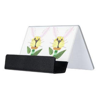 Bunny Flower Desk Business Card Holder