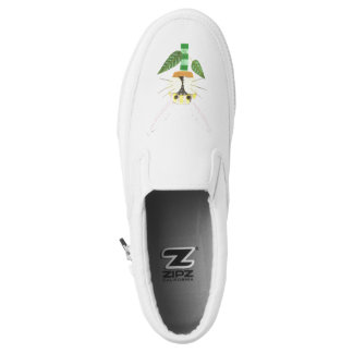 Bunny Flower No Background Women's Slip On Shoes