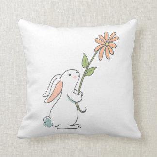 Bunny Flower pattern decorative pillow