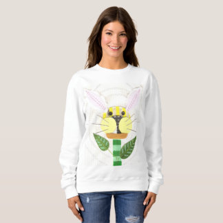 Bunny Flower Women's Sweatshirt