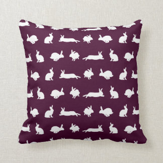 Bunny Frenzy Pillow (Burgundy)