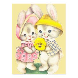 Bunny Girl+Boy Postcard