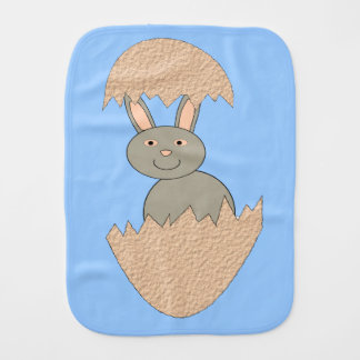 Bunny Hatching from Egg Weird Burp Cloth